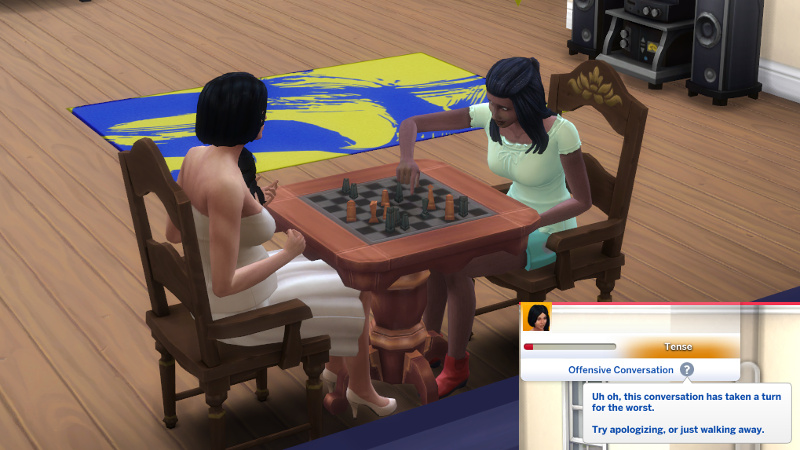 """Christina and Tabitha play chess and have an """"offensive conversation"""""""