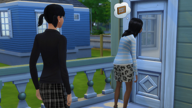 Izabella Britton and Cassandra Goth arrive at the Cooper residence
