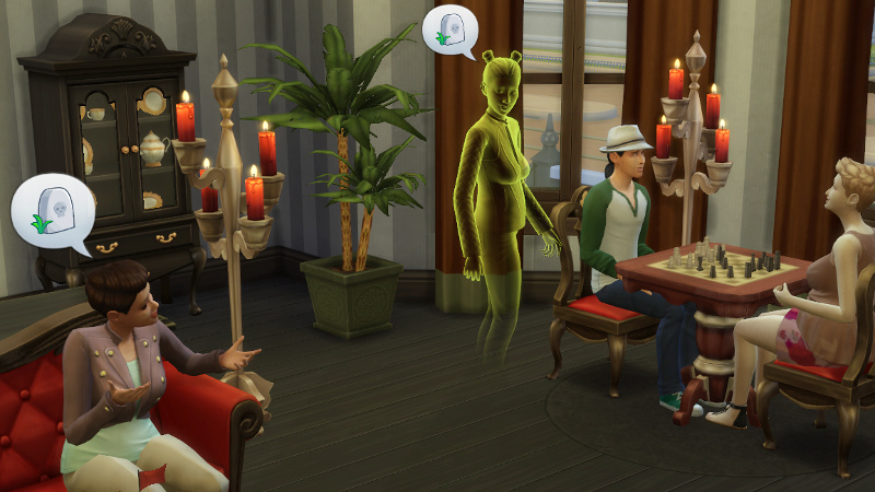 Stacey and the ghost chat about death