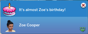 It's almost Zoe's birthday!