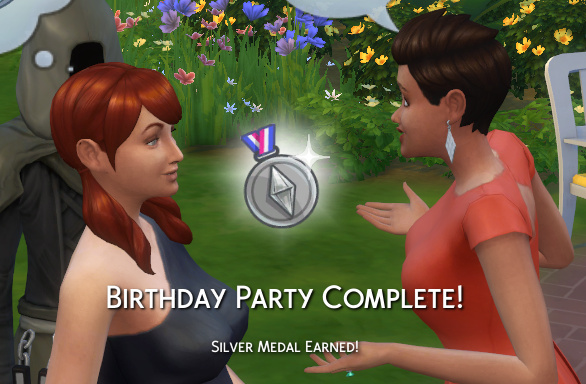 Birthday Party Complete! Silver medal earned!