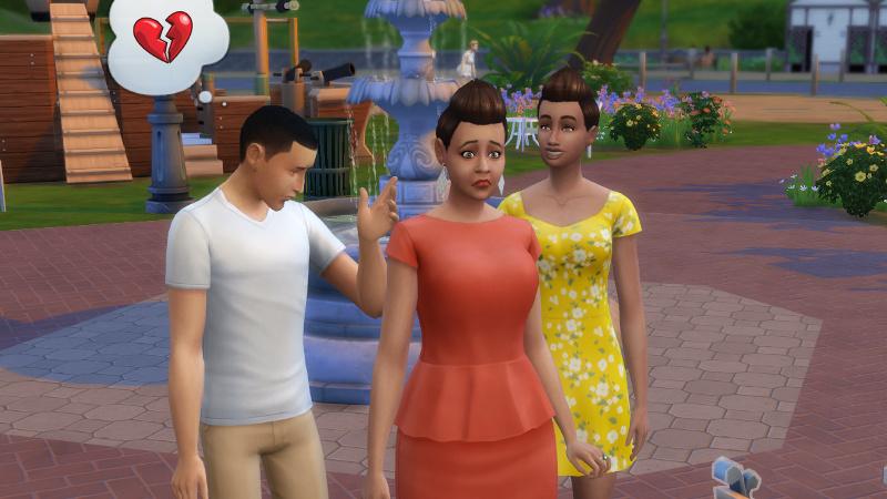 random teen thinks about heartbreak; Stacey looks sad; Rachel grins broadly