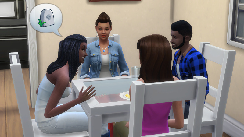 Christina tells Stacey, Melvin and Claire about death