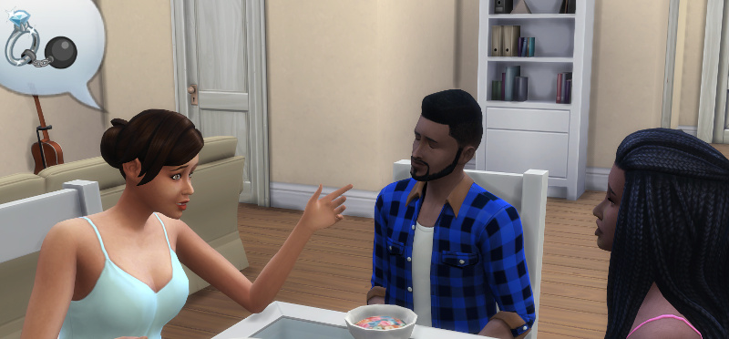 Stacey tells Melvin and Christina about engagement being a shackle