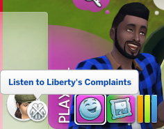 Melvin's current action: Listen to Liberty's Complaints