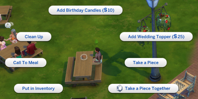 options on the cake now include birthday/wedding options
