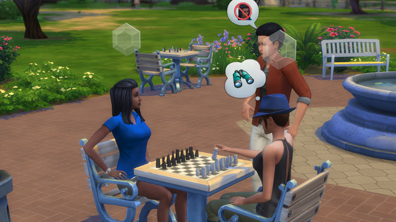 Christina and Rachel play chess; some guy annoys Christina