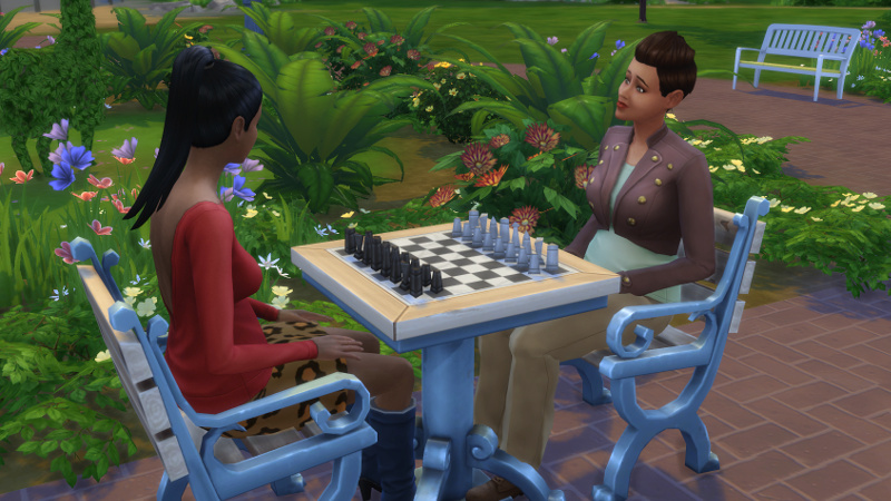 Stacey and Everly McLain play chess