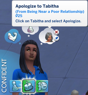 Christina has a whim to Apologise to Tabitha