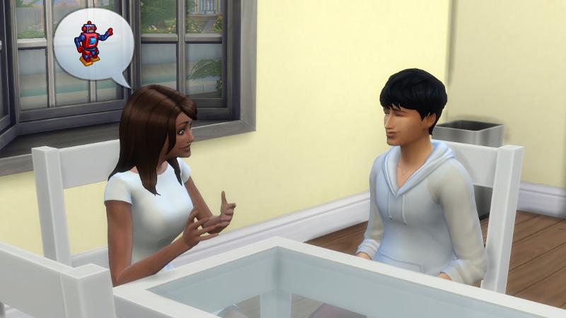 Claire tells Julian about robots