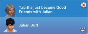 Tabitha just became Good Friends with Julian.