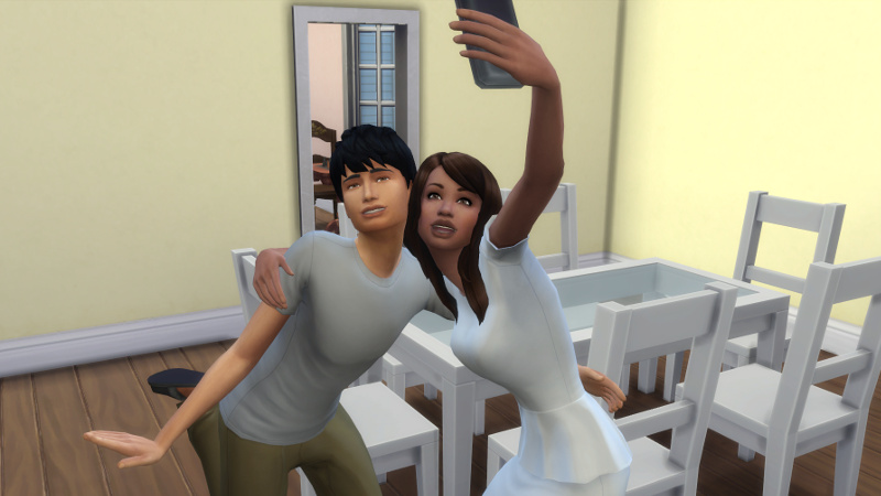 Claire and Julian take a selfie