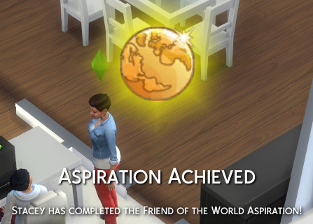 Aspiration Achieved: Stacey has completed the Friend of the World aspiration