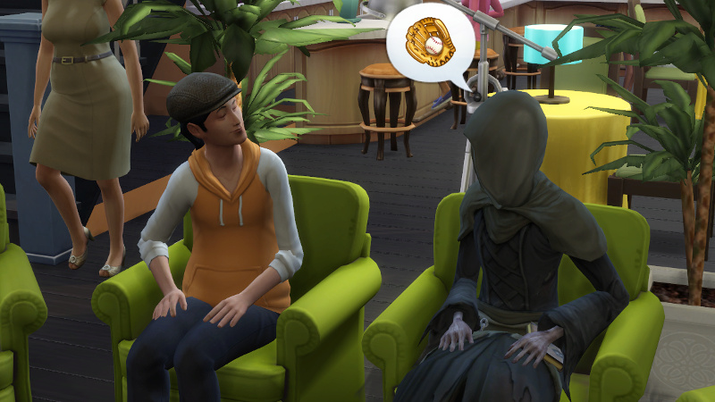 the Grim Reaper tells a townie about baseball