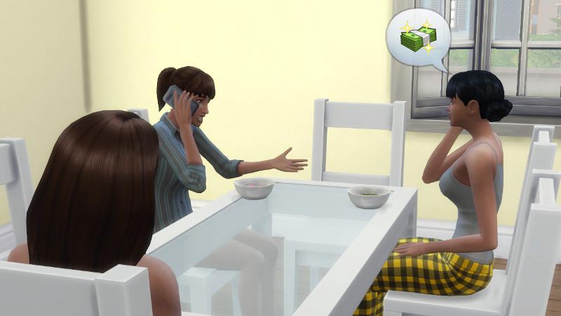 Zoe and Rachel on their phones