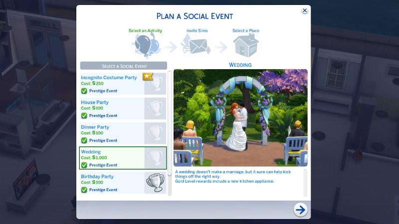 Plan a Social Event: Wedding