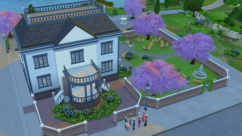 the Coopers and friends in front of Willow Creek's museum