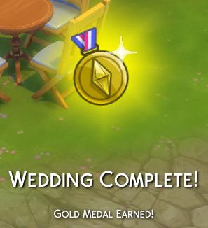 Wedding Complete! Gold Medal Earned!
