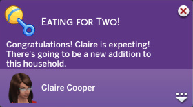 Eating For Two! Congratulations! Claire is expecting! There's going to be a new addition to this household.