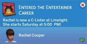 Rachel is now a C-Lister