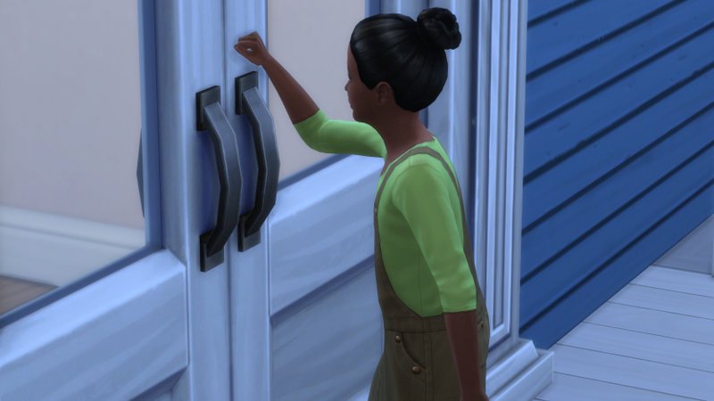 a child knocks on the Coopers' front door