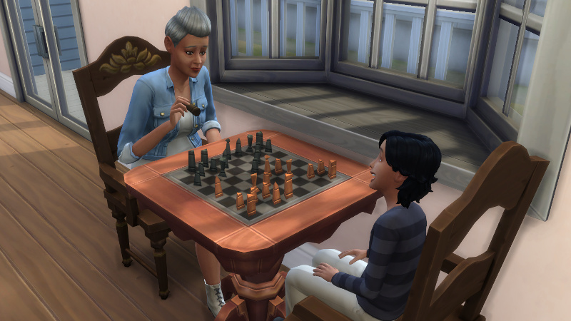 Stacey and Troy play chess