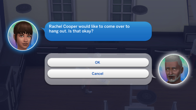 Rachel Cooper would like to come over to hang out. Is that okay?