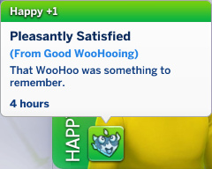 Melvin has a Happy moodlet: Pleasantly Satisfied