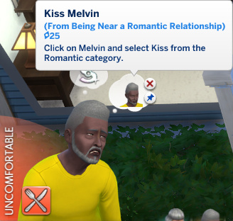 Melvin has a whim to Kiss Melvin