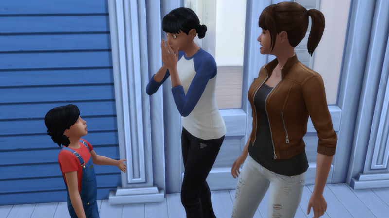 Troy complains about his parents to Zoe, who looks aghast; Rachel stands around
