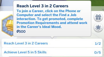 requirement for next level of Julian's aspiration: Reach Level 3 in 2 Careers