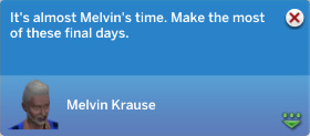 It's almost Melvin's time. Make the most of these final days.