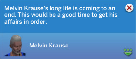 Melvin Krause's long life is coming to an end. Now would be a good time to get his affairs in order.