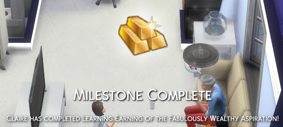 Milestone Complete: Claire has completed Learning Earning of the Fabulously Wealthy aspiration!