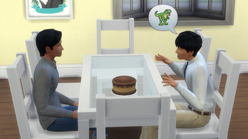 Julian tells Troy about dinosaurs
