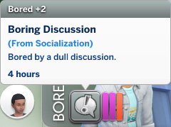 Britta has a Bored moodlet: Boring Discussion