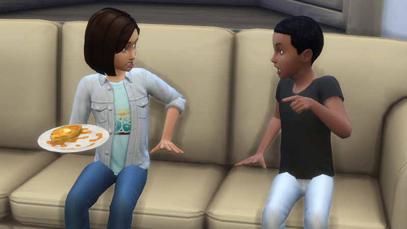 Pierce yells at Britta on the couch
