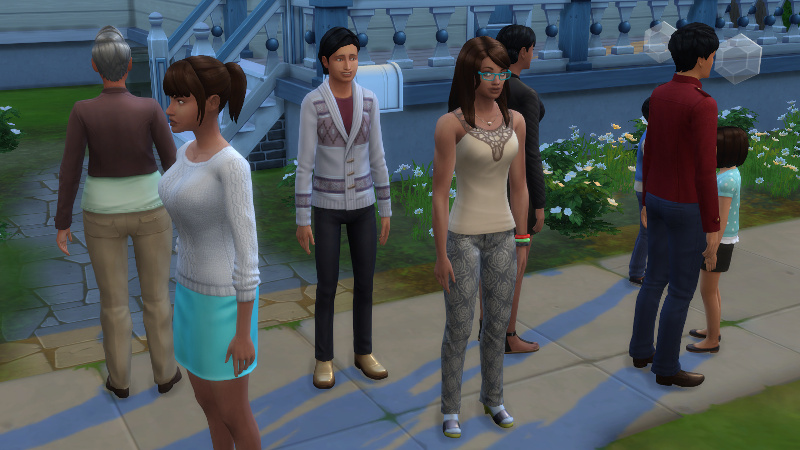 the guests in front of Christina's house