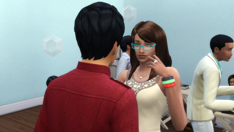 Julian flirts with Claire
