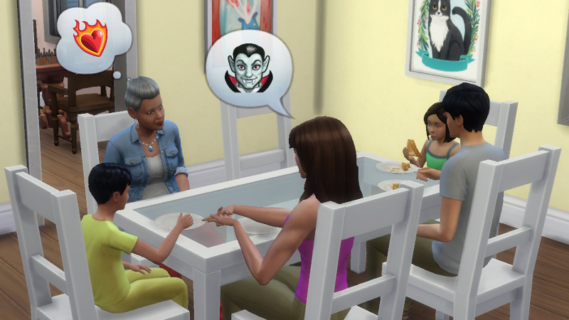 Claire tells Stacey about vampires