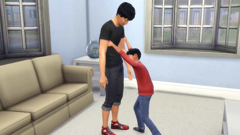 Abed consoles Julian in a slightly glitchy interaction
