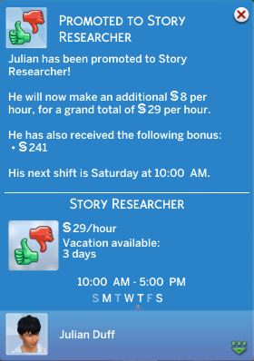 Julian has been promoted to Story Researcher!