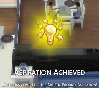 Aspiration Achieved: Britta has Completed the Artistic Prodigy Aspiration!