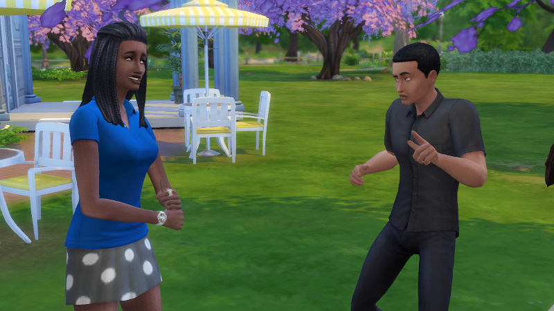 Amir and Christina argue while dancing