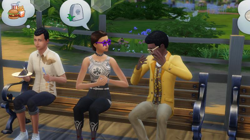 Britta talks to a random guy on a park bench