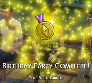 Birthday Party Complete! Gold Medal Earned!