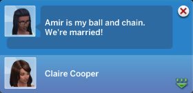 Amir is my ball and chain. We're married!