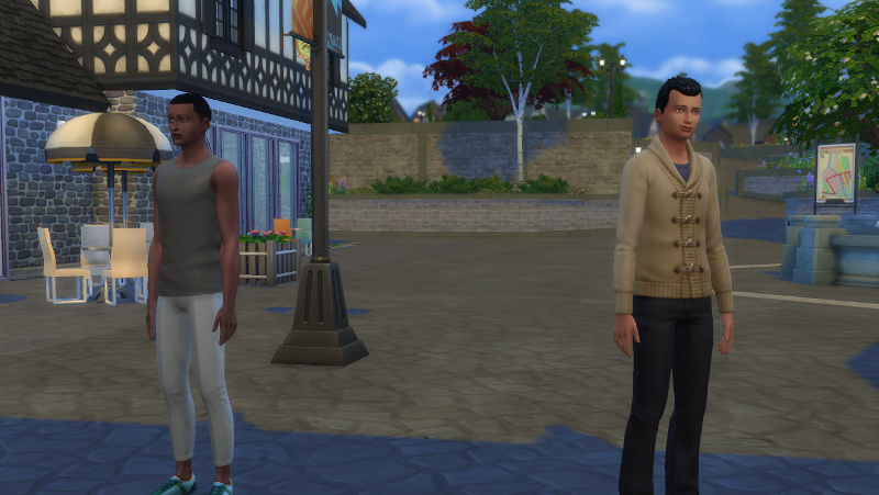Jeff and Abed stand around in Windenburg