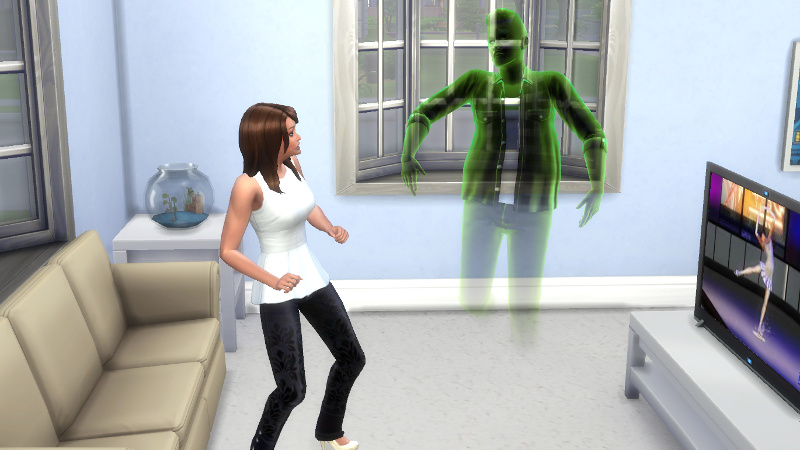 Melvin's ghost scares Claire (1)