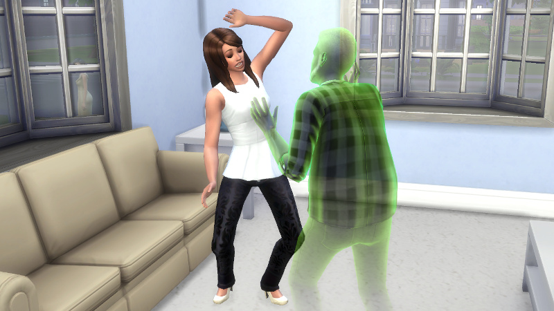 Melvin's ghost scares Claire (2)